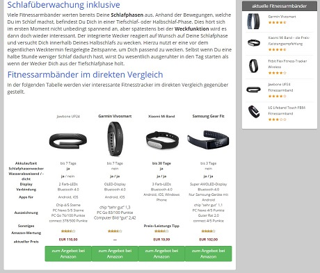 tabelle startseite dein-fitnessarmband screen