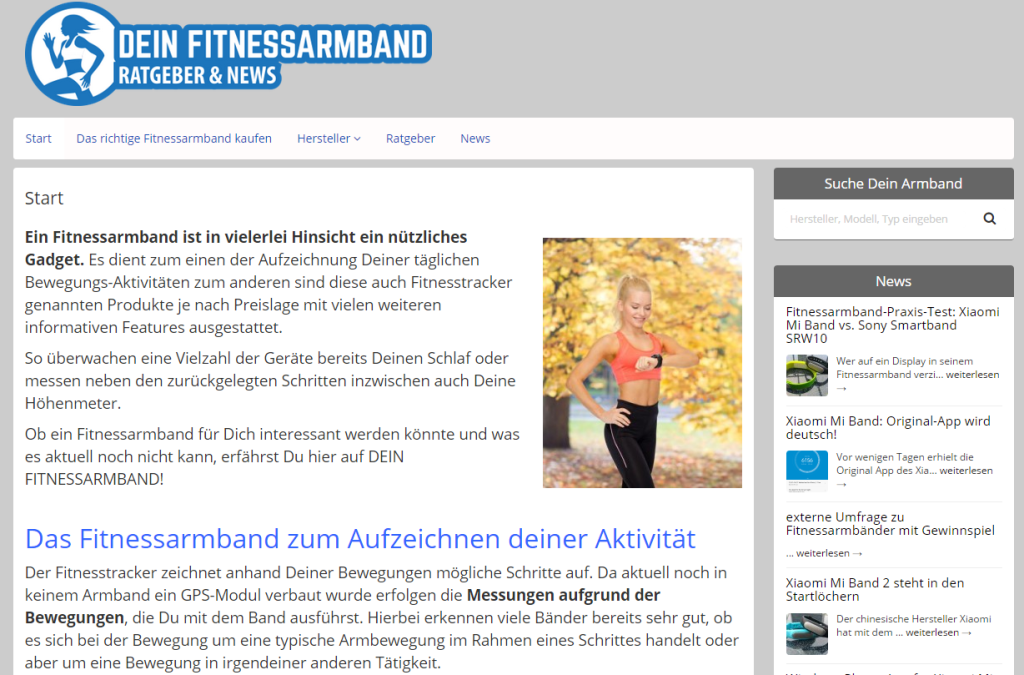 screenshot dein fitnessarmband